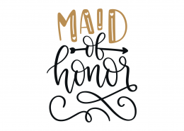 Maid Of Honor SVG Cut File 9082