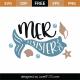 Mermaid Sister SVG Cut File 9207