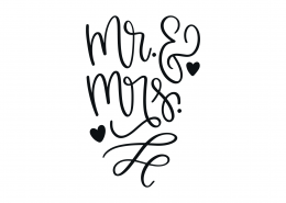 Mr and Mrs SVG Cut File 9100