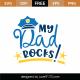 My Dad Rocks SVG Cut File 9193