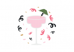 Party Cocktail SVG Cut File 9023
