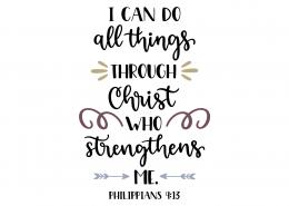 Philippians 4-13 SVG Cut File 9143
