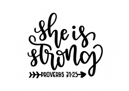 Proverbs 31-25 SVG Cut File 9158