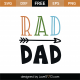 Rad Dad SVG Cut File 9206