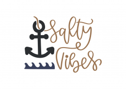 Salty Vibes SVG Cut File 9155