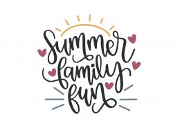 Summer Family Fun SVG Cut File 9108