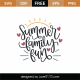 Summer Family Fun SVG Cut File 9108