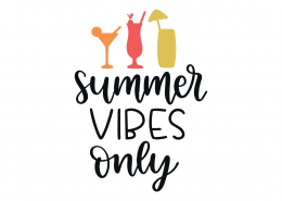 Summer Vibes Only SVG Cut File 9214