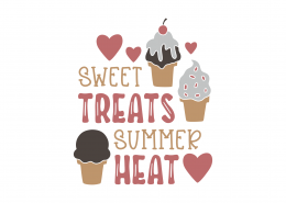 Sweet Treats Summer Heat SVG Cut File 9162