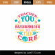 Teacher You Are Awesome To The Core SVG Cut File 9078