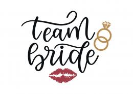 Team Bride SVG Cut File 9113