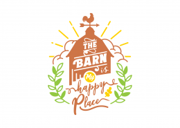 The Barn Is My Happy Place SVG Cut File 9034