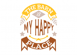 The Barn Is My Happy Place SVG Cut File 9051