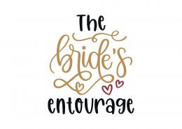 The Bride's Entourage SVG Cut File 9111