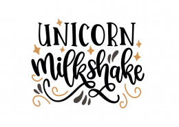 Unicorn Milkshake SVG Cut File 9221