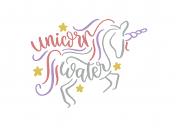 Unicorn Water SVG Cut File 9225