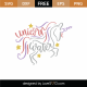 Unicorn Water SVG Cut File 9225