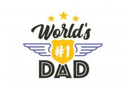 World's #1 Dad SVG Cut File 9134