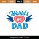 World's #1 Dad SVG Cut File 9150