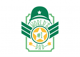 World's #1 Dad SVG Cut File 9154