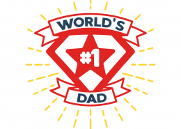 World's #1 Dad SVG Cut File 9167