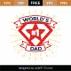 World's #1 Dad SVG Cut File 9167