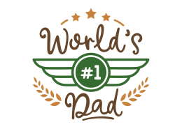 World's #1 Dad SVG Cut File 9223