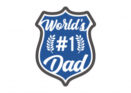 World's #1 Dad SVG Cut File 9248