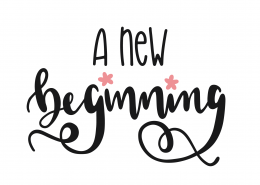 A New Beginning SVG Cut File 9321