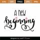 A New Beginning SVG Cut File 9321