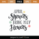 April Showers Bring May Flowers SVG Cut File 9330
