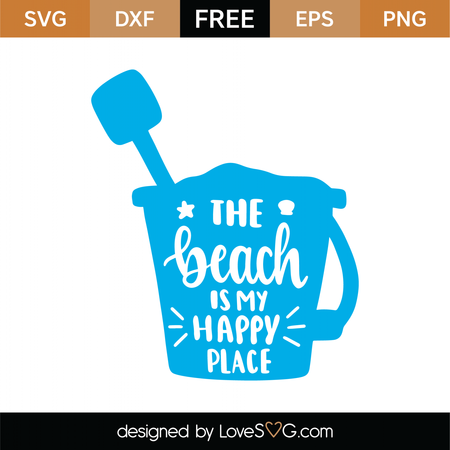 Free Beach Is My Happy Place SVG Cut File | Lovesvg com