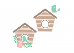 Birdhouse SVG Cut File 9326