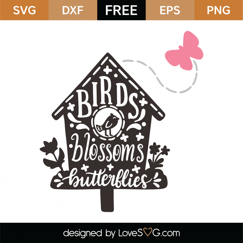 Birdhouse Text SVG Cut File 9341