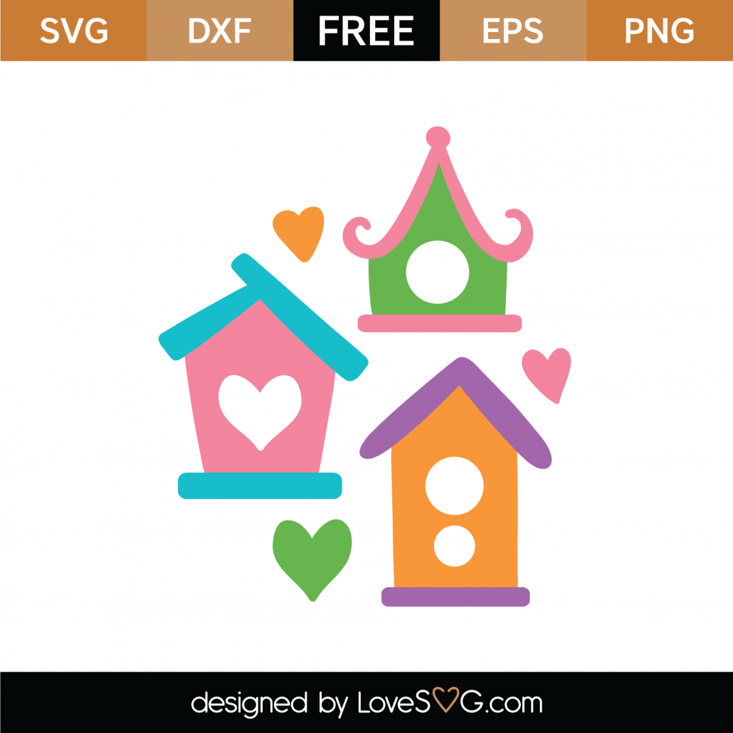 Birdhouses SVG Cut File 9345