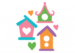 Birdhouses SVG Cut File 9345