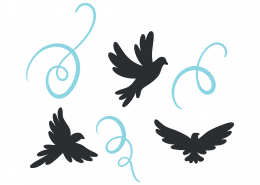Birds SVG Cut File 9358