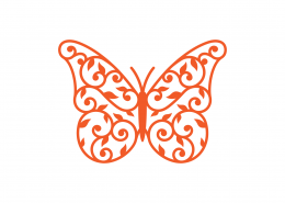 Butterfly Mandala SVG Cut File 9254