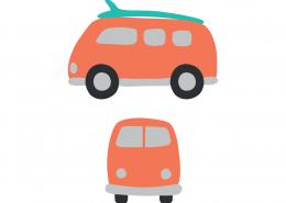 Camper Vans SVG Cut File 9411