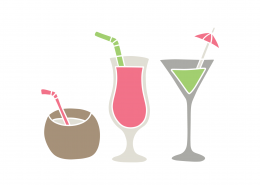 Cocktails SVG Cut File 9398