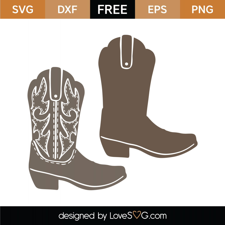 1e925ee6ac841 Free Cowboy Boots SVG Cut File | Lovesvg.com
