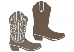 Cowboy Boots SVG Cut File 9353