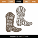 Cowboy Boots with Words SVG Cut File 9354