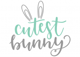 Cutest Bunny SVG Cut File 9337