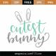 Cutest Bunny SVG Cut File 9337