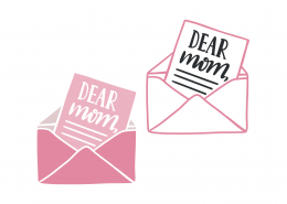 Dear Mom Envelope SVG Cut File 9351