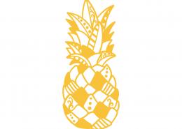 Decorative Pinneapple SVG Cut File 9412