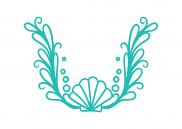 Decorative Shell Laurel SVG Cut File 9444
