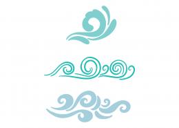 Decorative Waves SVG Cut File 9415