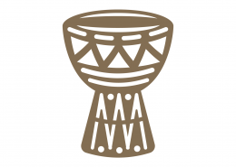 Djembe African Drum SVG Cut File 9316